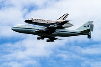 Space Shuttle Discovery on its way to the Smithsonian